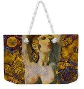 Ancient Cyprus Map And Aphrodite Weekender Tote Bag