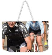 Cyclists Climb A Hill With A Mountain Weekender Tote Bag
