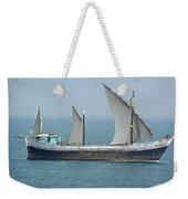 Fishing Vessel In The Arabian Sea Weekender Tote Bag
