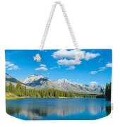 Lake With Mountains In The Background Weekender Tote Bag