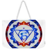16 Lotus Petals Vishuddha Abstract Chakra Art By Omaste Witkowsk Weekender Tote Bag