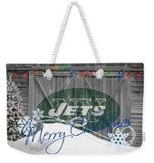 New York Jets Weekender Tote Bag by Joe Hamilton