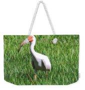 White Ibis Weekender Tote Bag