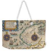 1601 De Bry And De Veer Map Of Nova Zembla And The Northeast Passage Weekender Tote Bag