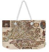 1630 Hondius Map Of Virginia And The Chesapeake Weekender Tote Bag by Paul Fearn