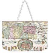 1632 Tirinus Map Of The Holy Land Weekender Tote Bag