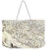 1690 Coronelli Map Of Montenegro Weekender Tote Bag