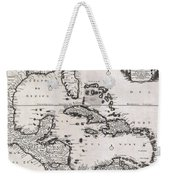 1696 Danckerts Map Of Florida The West Indies And The Caribbean Weekender Tote Bag