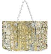 1696 Genroku 9 Early Edo Japanese Map Of Kyoto Japan Weekender Tote Bag