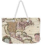 1698 Louis Hennepin Map Of North America Weekender Tote Bag