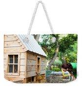 A Backyard Chicken Coop In Austin Weekender Tote Bag