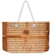 Declaration Of Independence Weekender Tote Bag