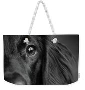Portrait Of A Mixed Dog Weekender Tote Bag