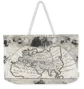 1700 Cellarius Map Of Asia Europe And Africa According To Strabo Weekender Tote Bag