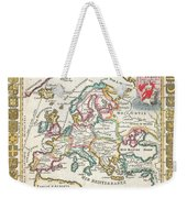 1706 De La Feuille Map Of Europe Weekender Tote Bag