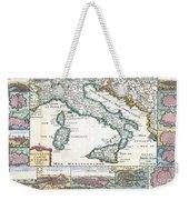 1706 De La Feuille Map Of Italy Weekender Tote Bag