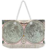 1707 Homann And Doppelmayr Map Of The Moon  Weekender Tote Bag