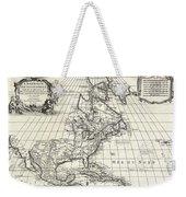1708 De Lisle Map Of North America Weekender Tote Bag
