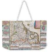 1710 De La Feuille Map Of The Netherlands Belgium And Luxembourg  Weekender Tote Bag