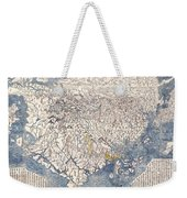 1710 First Japanese Buddhist Map Of The World Showing Europe America And Africa Weekender Tote Bag by Paul Fearn