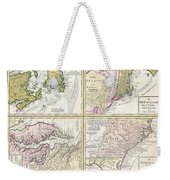 1737 Homann Heirs Map Of New England Georgia And Carolina And Virginia And Maryland Weekender Tote Bag