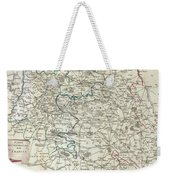 1740 Zatta Map Of Central France And The Vicinity Of Paris  Weekender Tote Bag