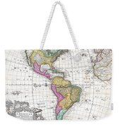 1746 Homann Heirs Map Of South And North America Weekender Tote Bag