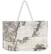 1750 Bellin Map Of The Kuril Islands Weekender Tote Bag