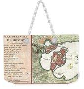1756 Bellin Map Of Boston Massachusetts Weekender Tote Bag