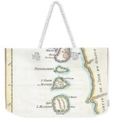 1760 Bellin Map Of The Moluques Weekender Tote Bag