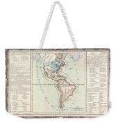 1760 Desnos And De La Tour Map Of North America And South America Weekender Tote Bag