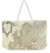 1762 Janvier Map Of Europe  Weekender Tote Bag