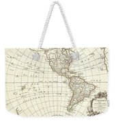1762 Janvier Map Of North America And South America  Weekender Tote Bag