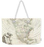 1762 Janvier Map Of North America  Weekender Tote Bag