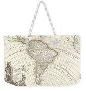 1762 Janvier Map Of South America  Weekender Tote Bag