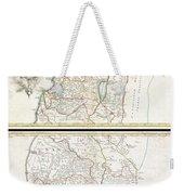 1763 De Lisle Map Of The Holy Land Weekender Tote Bag
