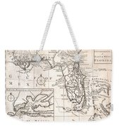 1763 Gibson Map Of East And West Florida Weekender Tote Bag by Paul Fearn