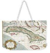 1763 Terreni  Coltellini Map Of Cuba And Jamaica Weekender Tote Bag