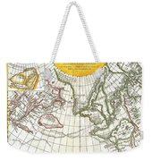 1772 Vaugondy And Diderot Map Of The Pacific Northwest And The Northwest Passage Weekender Tote Bag by Paul Fearn