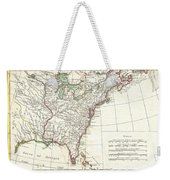 1776 Bonne Map Of Louisiana And The British Colonies In North America Weekender Tote Bag