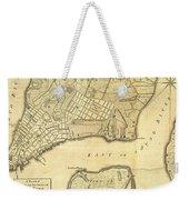 1776 New York City Map Weekender Tote Bag
