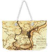 1777 Philadelphia Map Weekender Tote Bag by Bill Cannon