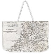 1780 Raynal And Bonne Map Of Holland And Belgium Weekender Tote Bag