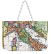 1780 Raynal And Bonne Map Of Italy Weekender Tote Bag