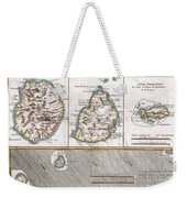 1780 Raynal And Bonne Map Of Mascarene Islands Reunion Mauritius Bourbon Weekender Tote Bag