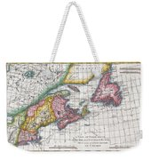 1780 Raynal And Bonne Map Of New England And The Maritime Provinces Weekender Tote Bag