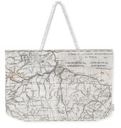 1780 Raynal And Bonne Map Of Northern Brazil Weekender Tote Bag