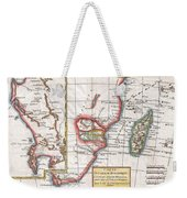 1780 Raynal And Bonne Map Of South Africa Zimbabwe Madagascar And Mozambique Weekender Tote Bag