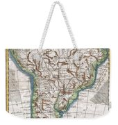 1780 Raynal And Bonne Map Of South America Weekender Tote Bag