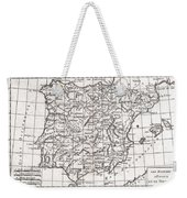 1780 Raynal And Bonne Map Of Spain And Portugal Weekender Tote Bag